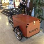 На этом велосипеде сотрудники выезжают в город для того, чтобы привлечь новых посетителей. В ящике — книги