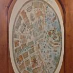 Старая карта Хельсинки на торце одного из шкафов